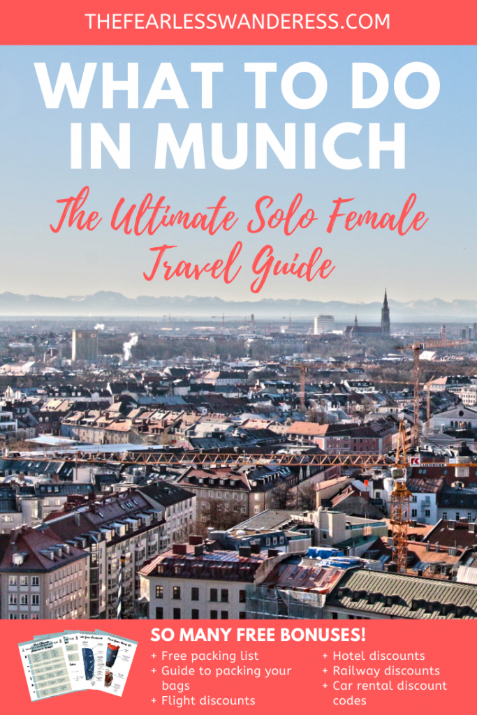 What to Do in Munich Pinterest Graphic the fearless wanderess update 2020